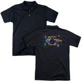 Polo: Pink Floyd- Distressed Dark Side Band Stamp (Back Print) Shirts