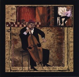 Jazz Cello - Petite Poster by Inc., CW Designs