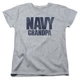 Womans: Longsleeve: Navy- Grandpa T-Shirt
