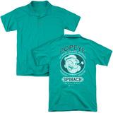 Polo: Popeye- Fancy Spinach Brand (Back Print) Shirt
