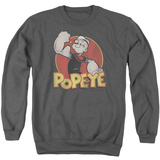 Crewneck Sweatshirt: Popeye- Retro Ring Shirt