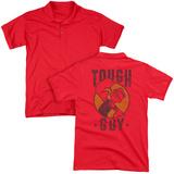 Polo: Popeye- Tough Guy Badge (Back Print) T-Shirt