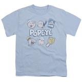 Youth: Popeye- Head Shots T-shirts
