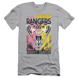 Power Rangers- Pink & Yellow Deco Slim Fit T-shirts