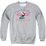Crewneck Sweatshirt: Popeye- I Yam What I Yam T-Shirt