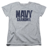 Womans: Longsleeve: Navy- Grandma T-shirts