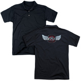 Polo: Reo Speedwagon- Chrome Wings Logo (Back Print) T-shirts
