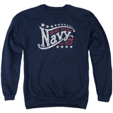 Crewneck Sweatshirt: Longsleeve: Navy- Stars T-Shirt
