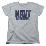 Womens:  Navy- Boyfriend T-Shirt