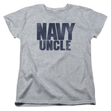 Womens:  Navy- Uncle T-Shirt