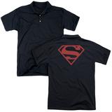 Polo: Superman- Red On Black Shield (Back Print) T-shirts