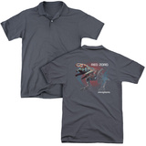 Polo: Power Rangers- Red Zord Schematic (Back Print) T-Shirt