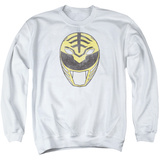 Crewneck Sweatshirt: Power Rangers- Original White Ranger Mask T-shirts