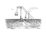 Climate change ski lift. - Cartoon Premium Giclee Print by Pat Byrnes