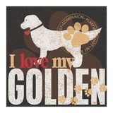 Golden Poster by Kathy Middlebrook