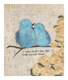 Bluebirds Prints by Cassandra Cushman