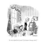 """It's not an April Fool's prank. It's preëmptive damage control."" - Cartoon Premium Giclee Print by Pat Byrnes"