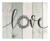 Love Rustic Wreath II Prints by Jo Moulton