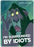 The Lion King - Scar Plaque en métal