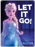 Frozen - Let it Go Metalen bord