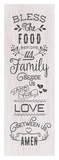 Food, Family, Love Prints by Tammy Apple