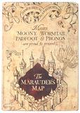 Harry Potter - Marauder's Map Plaque en métal