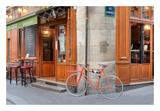 Orange Bicycle, Paris Print by Alan Blaustein