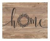 Home Rustic Wreath Posters av Jo Moulton