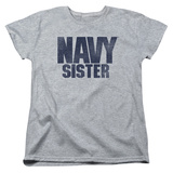 Womans: Longsleeve: Navy- Sister Shirts