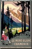 Mt Blanc Chamonix Hiking Poster Stretched Canvas Print by Roger Broders