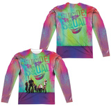 Long Sleeve: Suicide Squad- Line Up (Front/Back) Sublimated