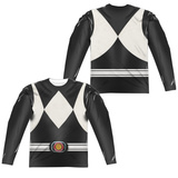 Long Sleeve: Power Rangers- Black Ranger (Front/Back) Sublimated