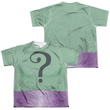 Youth: Batman Classic Tv- Riddler Uniform (Front/Back) T-shirts