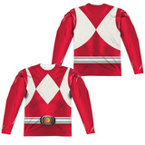 Long Sleeve: Power Rangers- Red Ranger (Front/Back) Sublimated