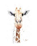 Giraffe Watercolor Art by Eric Sweet