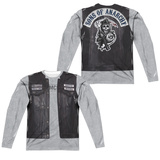 Long Sleeve: Sons Of Anarchy- Unholy Costume Tee (Front/Back) T-shirts