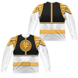 Long Sleeve: Power Rangers- White Ranger((Front/Back) Sublimated