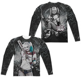 Long Sleeve: Suicide Squad- Tunnel Vision Harley (Front/Back) T-shirts