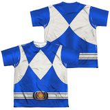 Youth: Power Rangers- Blue Ranger (Front/Back) T-Shirt