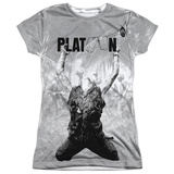 Juniors: Platoon- Grayscale Poster Womens Sublimated
