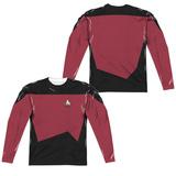 Long Sleeve: Star Trek- Command Uniform Costume Tee (Front/Back) Sublimated