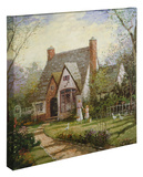 The Cottage Stretched Canvas Print by Thomas Kinkade