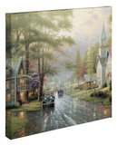 Hometown Evening Stretched Canvas Print by Thomas Kinkade