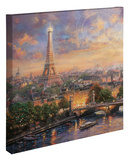 Paris, City of Love Reproducción en lienzo de la lámina por Thomas Kinkade