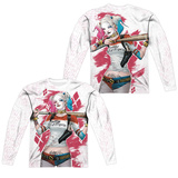 Long Sleeve: Suicide Squad- Harley Relaxed Bat Argyle (Front/Back) T-shirts