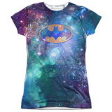Juniors: Batman- Galaxy Symbol Womens Sublimated