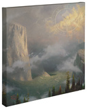 West Rim, Yosemite Stretched Canvas Print by Thomas Kinkade