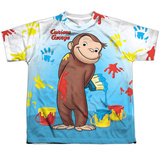 Youth: Curious George- Paint All Over Shirt