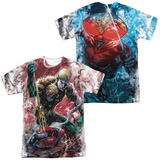 JLA- Aquaman Vs Manta (Front/Back) T-shirts