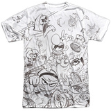 Grim Adventures Of Billy And Mandy- Brawl T-shirts
